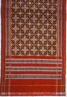 Patola Style Silk Double Ikat Sari from Pochampalli