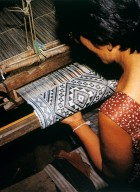 Weaver Hand Picking Patterns at the Loom