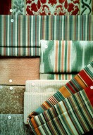 Relief Effect Velours, Striped, and Flame Effect Upholstery Fabric