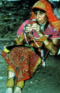 Kuna Woman Working on a Blouse