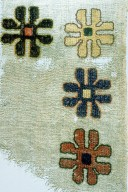 Textile Fragment with Flowers in a Double Running Stitch