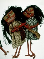Female Dolls Holding Hands
