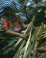 Woman in Huipil at Market in Chichicastenango
