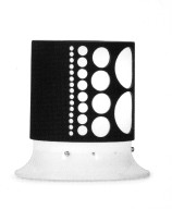 Lamp with Rotatable Lampshade and Hole Pattern