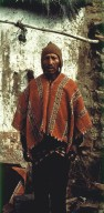 Man Wearing 19th Century Ponchito in Bolivar Region