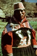Charazani Region Woman Wearing a Wide Double Cloth Belt