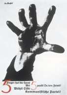 Hand Has Five Fingers / With Five You Can Repel the Enemy / Vote List 5 - German Communist Party Poster
