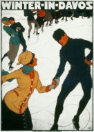 Winter in Davos, Tourist Poster