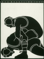 Brigham Young University Wrestling Program Poster