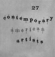 Exhibition Catalog for Contemporary American Artist