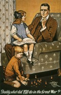 Daddy, What Did You Do in the Great War? War Poster