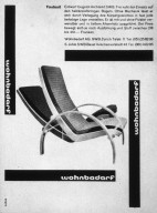 Wohnbedarf Furniture Factory Newspaper Advertisement