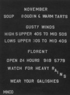 Florent Menu Board Advertisement