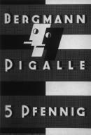Bergmann Pigalle Cigarette Poster