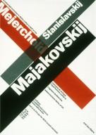 Majakovskij, Mejerchol'd, Stanislavskij Poster for Traveling Exhibition
