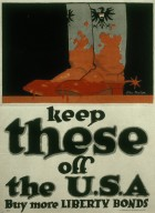 Keep These Off the USA, Buy More Liberty Bonds Poster