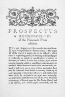 Nonesuch Press prospectus