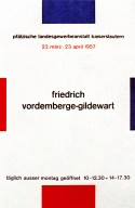 Poster for Friedrich Vordemberge-Gildewart Exhibit