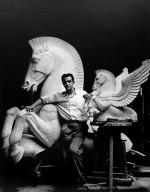 Portrait of Wheeler Williams with Pegasus Fountain