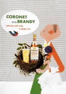 Coronet Brandy Advertisement