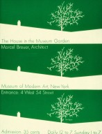Marcel Breuer's House in the Museum Garden Exhibition Poster