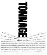Tonnage Advertisement