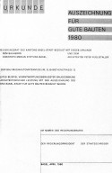 Certificate Recognizing Distinction in Architecture