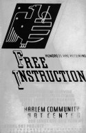 WPA - Federal Art Project Poster Offering Free Instruction