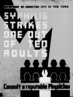 Syphilis Strikes One Out of Ten Adults Poster