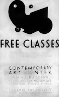 WPA - Federal Art Project Poster Offering Free Classes