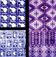 Stencil Resist and Strip Weaving