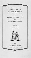 John Donne's Complete Poetry and Selected Prose