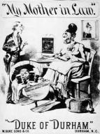 Duke of Durham smoking tobacco