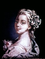 French Tapestry, Portrait of a Girl