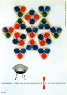 Knoll Advertisement Showing Harry Bertoia's Diamond Chair