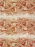 Pink and Orange Factory Cotton Print