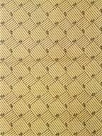 Blue Stripe Squares Cotton Print