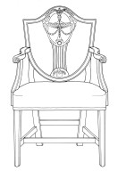 Hepplewhite Shield Back Armchair