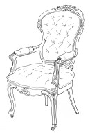 Louis XV Revival Armchair