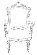 Renaissance Revival Armchair