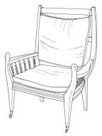 Armchair for Crane Memorial Library