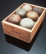 Six Pack of Ceramic Stones in a Wooden Crate