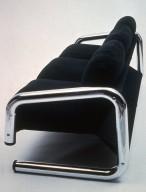 Cantilevered Chrome Sofa