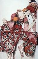 Costume Design for Nijinsky in the Role of Iskender