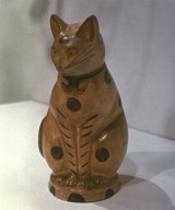 Chalkware: Seated Cat