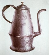 Pennsylvania Double Inverted Cone-Shaped Punched Tin Coffee Pot