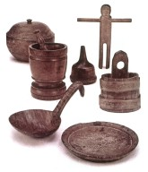 Wooden Utensils and Household Items