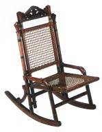 Rocker with Woven Wire Seat and Back