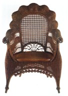 Wicker Shell-Back Armchair