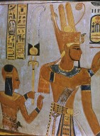 Amen-Hor-Khepshef, Son of Ramses III Stands Behind the Pharaoh